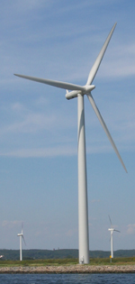 carbon-fiberglass-epoxy wind turbine